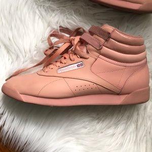 f95c1758da45 Reebok Shoes - Reebok Freestyle Hi X Glow